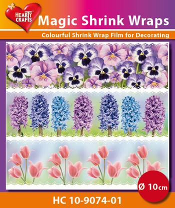 Magic shrink wrap 10 cm, flowers