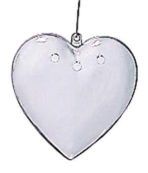 Akrylhjärtan, (3st)