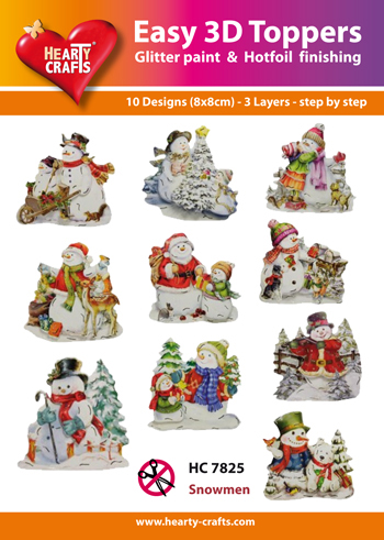 Hearty Crafts Easy 3D Toppers 3D-paketti lumiukko