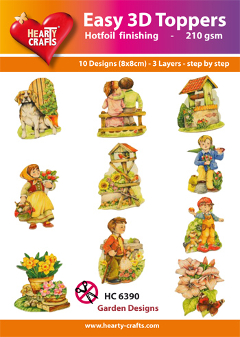 Hearty Crafts Easy 3D Toppers 3D-paketti puutarha