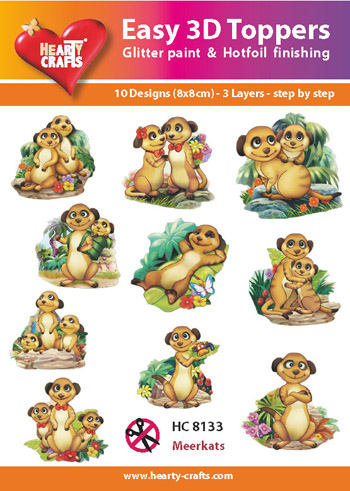 Hearty Crafts Easy 3D Toppers 3D-paketti magusti