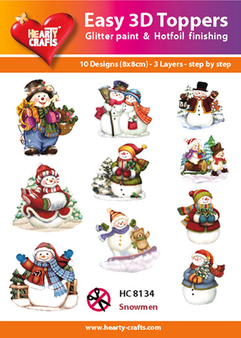 Hearty Crafts Easy 3D Toppers 3D-paketti lumiukot