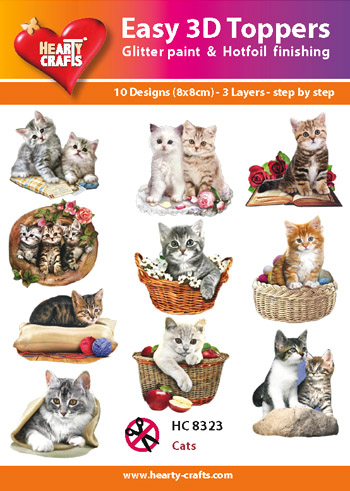 Hearty Crafts Easy 3D Toppers 3D-paketti kissat