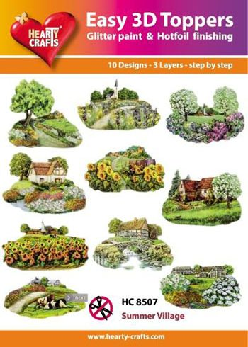 Hearty Crafts Easy 3D Toppers 3D-paketti kevätmaisemat