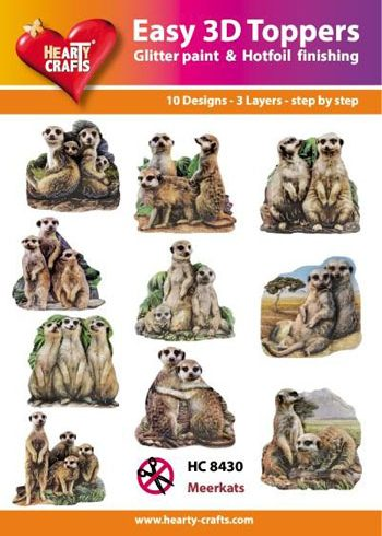 Hearty Crafts Easy 3D Toppers 3D-paketti mangusti