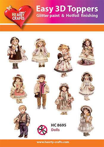 Hearty Crafts Easy 3D Toppers 3D-paketti nuket