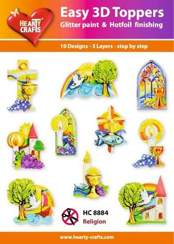 Hearty Crafts Easy 3D Toppers 3D-paketti rippi