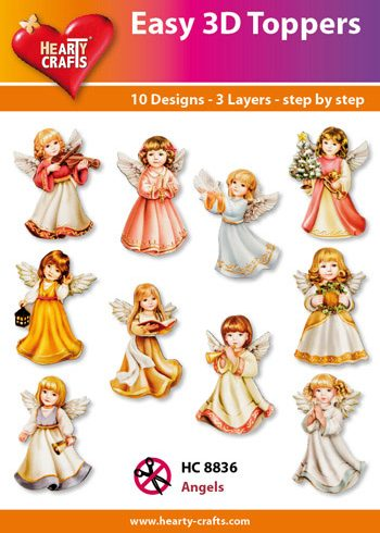 Hearty Crafts Easy 3D Toppers 3D-paketti enkelit