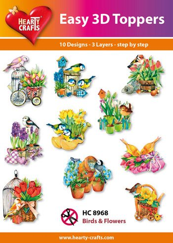 Hearty Crafts Easy 3D Toppers 3D-paketti pikkulinnut