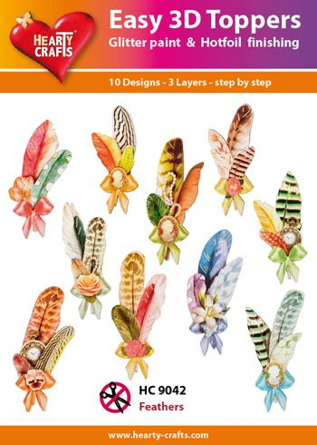Hearty Crafts Easy 3D Toppers 3D-paketti sulka