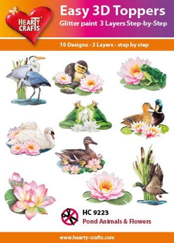 Hearty Crafts Easy 3D Toppers 3D-paketti vesilinnut