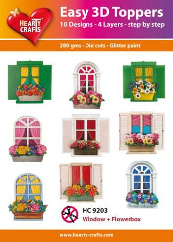 Hearty Crafts Easy 3D Toppers 3D-paketti ikkunat