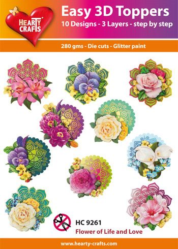 Hearty Crafts Easy 3D Toppers 3D-paketti kukat