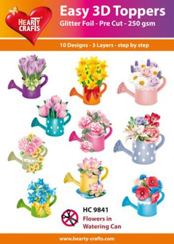 Hearty Crafts Easy 3D Toppers 3D-paketti kastelukannut
