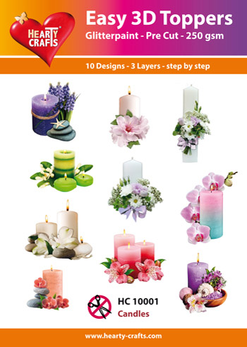 Hearty Crafts Easy 3D Toppers 3D-paketti kynttilät
