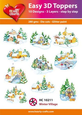 Hearty Crafts Easy 3D Toppers 3D-pakettitalvimaisemat