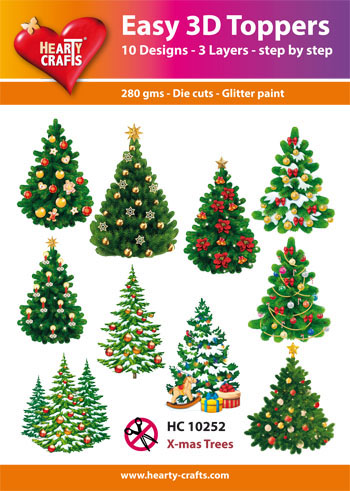 Hearty Crafts Easy 3D Toppers joulukuuset