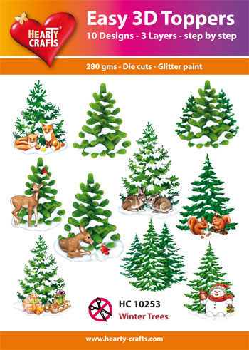 Hearty Crafts Easy 3D Toppers 3D-paketti kuuset
