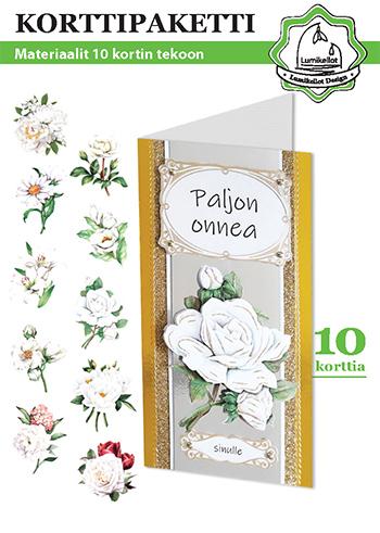 White Flowers - Card set