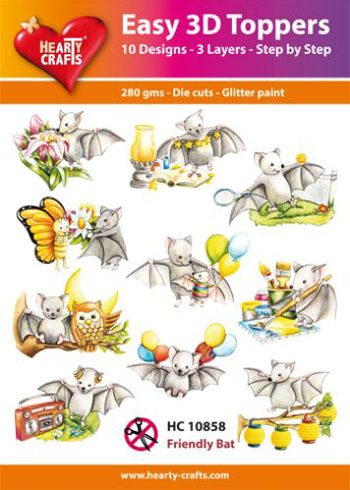 Hearty Crafts Easy 3D Toppers 3D-paketti lepakot