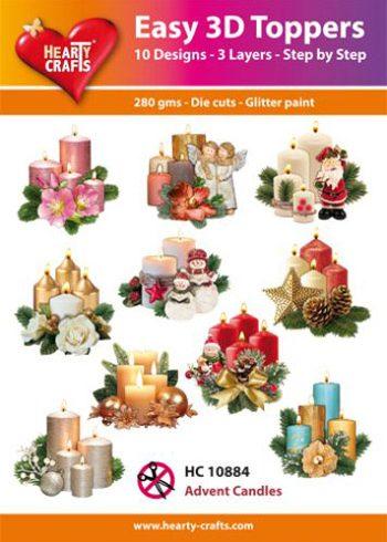 3D-paketti joulukynttilät