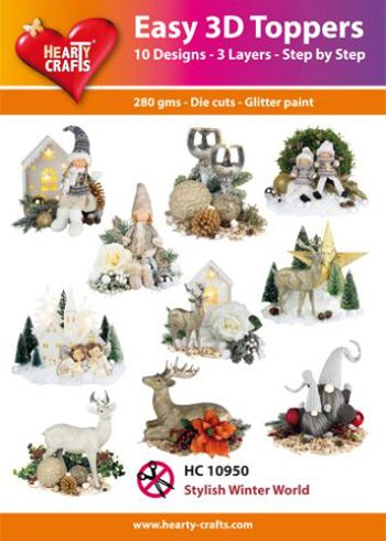 Hearty Crafts 3D-paketti vaalea joulu