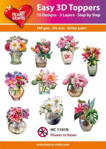 Hearty Crafts 3D-paketti kukkamaljakot