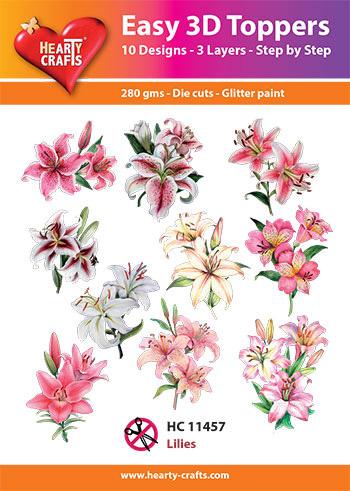 Hearty Crafts 3D-paketti liljat