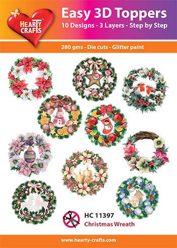 Hearty Crafts3D-paketti joulukranssit