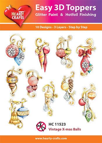 Hearty Crafts 3D-paketti joulupallot