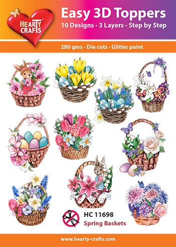 Hearty Crafts 3D-paketti kevätkorit