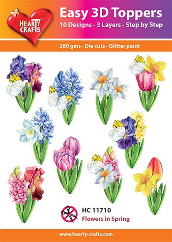 Hearty Crafts 3D-paketti kevätkukat