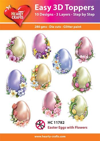 Hearty Crafts 3D-paketti pääsiäismunat