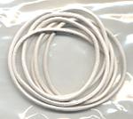 white leatherband