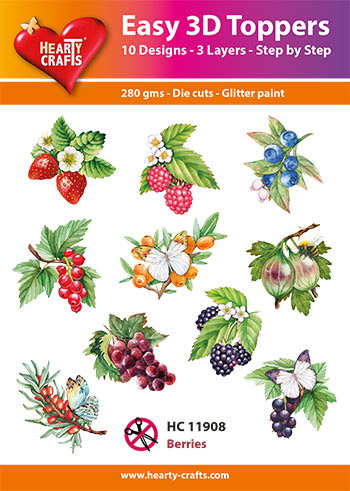 Hearty Crafts 3D-paketti Easy 3D Toppers