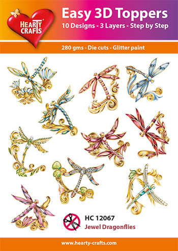 Hearty Crafts HC12067 Easy 3D Toppers 3D-paketti