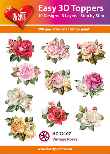 Hearty Crafts HC12107 Easy 3D Toppers 3D-paketti