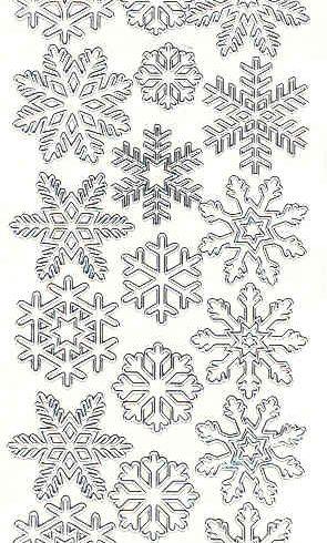 Ääriviivatarra lumihiutaleet