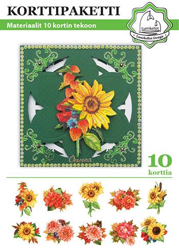 korttipaketti lumikellot design syyskukat