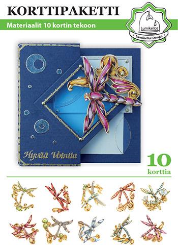 korttipaketti lumikellot design sudenkorennot