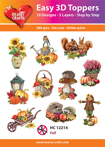 Hearty Crafts Easy 3D Toppers 3D-paketti